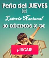 Peña 10x1 Lotería del Jueves