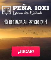 Peña 10x1 Lotería del Sábado