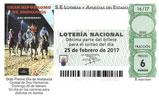 Décimo del sorteo de Lotería Nacional del 25 de Febrero de 2017