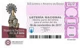 Décimo del sorteo de Lotería Nacional del 18 de Noviembre de 2017