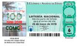 Décimo del sorteo de Lotería Nacional del 26 de Mayo de 2018