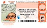 Décimo del sorteo de Lotería Nacional del 14 de Julio de 2018