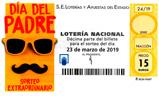 Décimo del sorteo de Lotería Nacional del 23 de Marzo de 2019