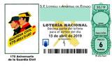 Décimo del sorteo de Lotería Nacional del 13 de Abril de 2019