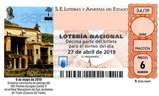 Décimo del sorteo de Lotería Nacional del 27 de Abril de 2019