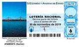 Décimo del sorteo de Lotería Nacional del 30 de Noviembre de 2019