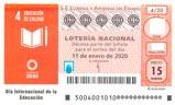 Décimo del sorteo de Lotería Nacional del 11 de Enero de 2020