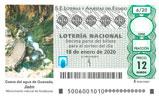 Décimo del sorteo de Lotería Nacional del 18 de Enero de 2020