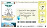 Décimo del sorteo de Lotería Nacional del 22 de Febrero de 2020
