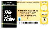 Décimo del sorteo de Lotería Nacional del 13 de Junio de 2020