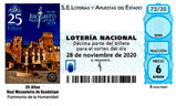Décimo del sorteo de Lotería Nacional del 28 de Noviembre de 2020