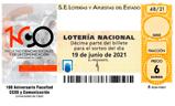 Décimo del sorteo de Lotería Nacional del 19 de Junio de 2021