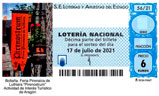 Décimo del sorteo de Lotería Nacional del 17 de Julio de 2021