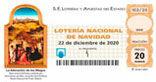 Décimo del sorteo de Lotería Nacional del 22 de Diciembre de 2020
