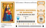 Décimo del sorteo de Lotería Nacional del 22 de Diciembre de 2021