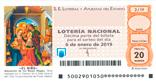 Décimo del sorteo de Lotería Nacional del 6 de Enero de 2019